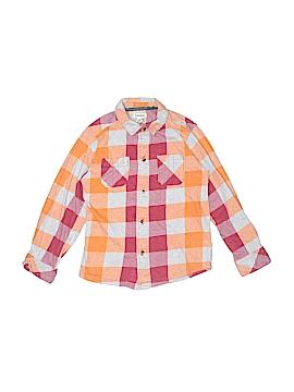 Ruff Hewn Long Sleeve Button-Down Shirt Size L (Youth)