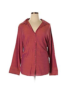 Millenium Long Sleeve Button-Down Shirt Size 22 (Plus)