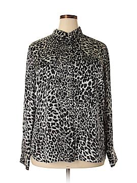AK Anne Klein Long Sleeve Blouse Size 2X (Plus)