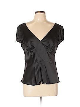 Armani Collezioni Short Sleeve Silk Top Size 10