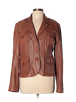 Tahari Leather Jacket Size L