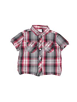 WonderKids Short Sleeve Button-Down Shirt Size 18 mo