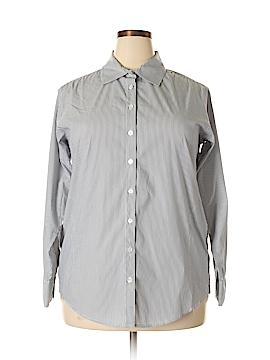 Elliott Lauren Long Sleeve Button-Down Shirt Size 16