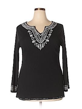 Phool Long Sleeve Blouse Size 1X (Plus)