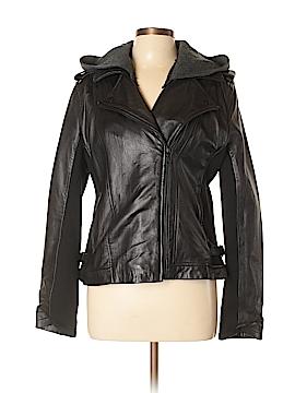 DKNY Leather Jacket Size L