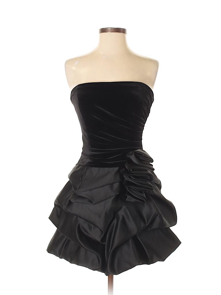 Jessica McClintock Solid Black Cocktail Dress Size 2 - 75% off | thredUP
