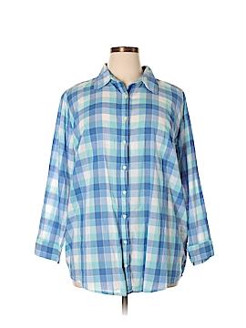 3J Workshop Long Sleeve Button-Down Shirt Size 1X (Plus)