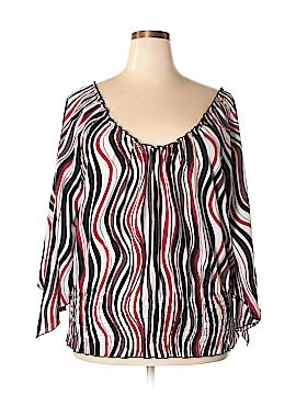 Fashion Bug Long Sleeve Blouse Size 2X (Plus)