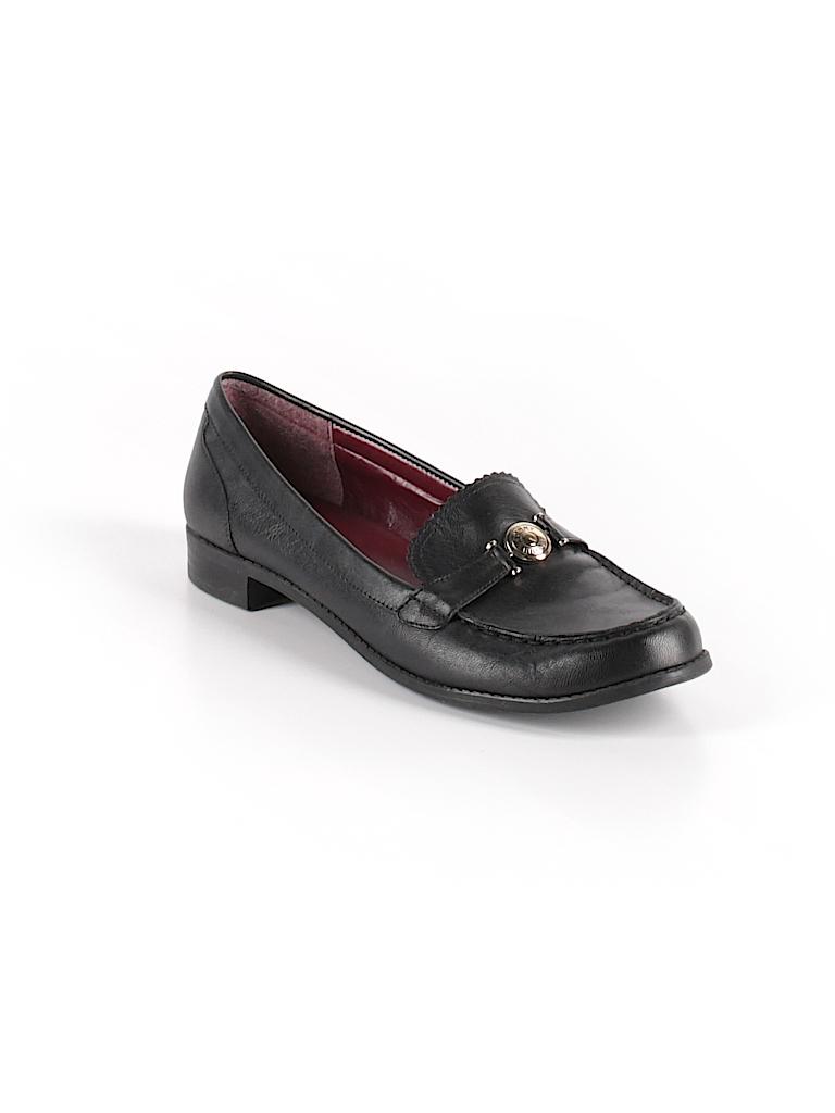 bce7b8d91 Tommy Hilfiger Solid Black Flats Size 11 - 77% off