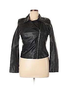 Celebrity Pink Leather Jacket Size L