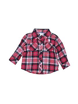 Toughskins Short Sleeve Button-Down Shirt Size 12-18 mo