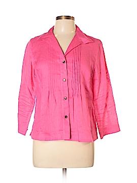 Jones New York Collection Long Sleeve Button-Down Shirt Size 10 (Petite)