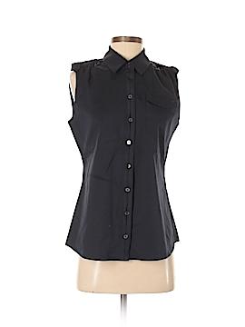 Elie Tahari Sleeveless Button-Down Shirt Size S