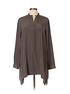 Lafayette 148 New York Long Sleeve Silk Top Size L