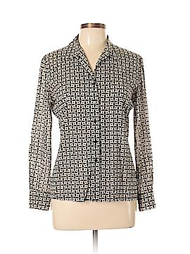 Dana Buchman Long Sleeve Silk Top Size 10 (Petite)