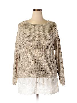 Perch by Blu Pepper Pullover Sweater Size 2XL (Plus)