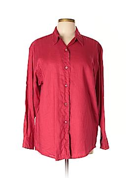 Ann Taylor Long Sleeve Button-Down Shirt Size L