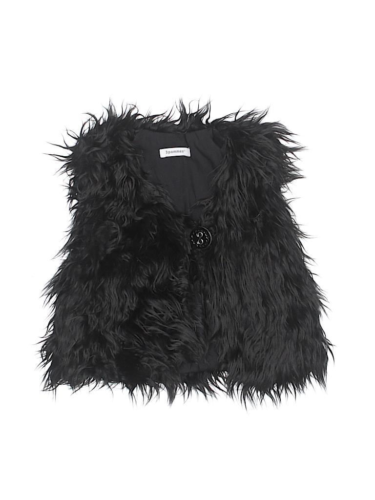 3 Pommes Girls Faux Fur Vest Size 4