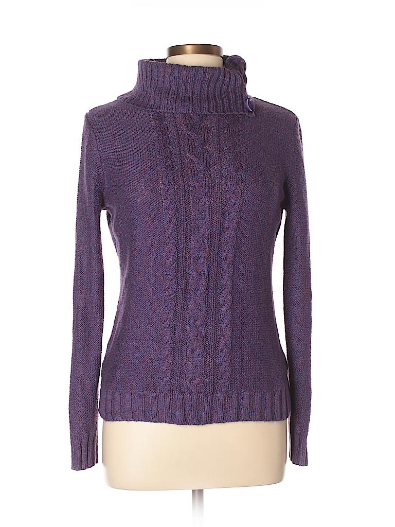 026cc851e6 DressBarn Solid Dark Purple Turtleneck Sweater Size L - 70% off ...