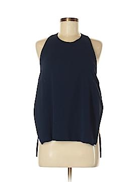 Line & Dot Sleeveless Blouse Size M