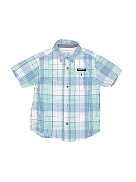 CALVIN KLEIN JEANS Short Sleeve Button-Down Shirt Size 4