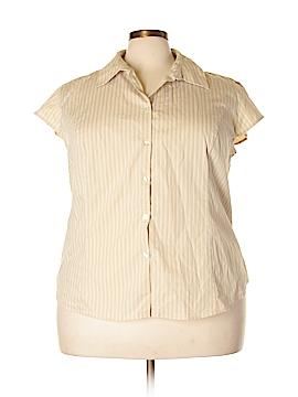 George Short Sleeve Button-Down Shirt Size 22/24W (Plus)