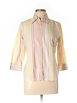 Villager Sport by Liz Claiborne 3/4 Sleeve Button-Down Shirt Size 12