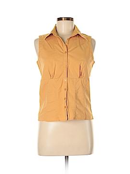 Faded Glory Sleeveless Button-Down Shirt Size M
