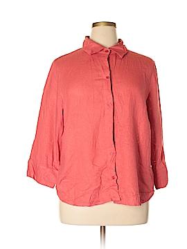 Uniform John Paul Richard 3/4 Sleeve Button-Down Shirt Size 1X (Plus)