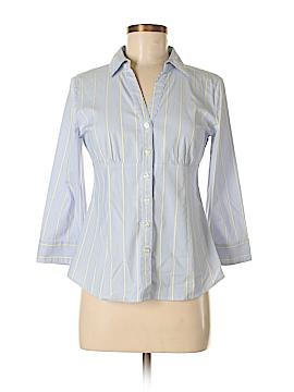 Apostrophe 3/4 Sleeve Button-Down Shirt Size S