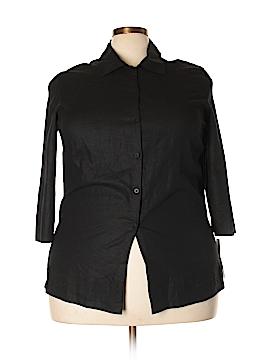 Norton McNaughton 3/4 Sleeve Button-Down Shirt Size 2X (Plus)