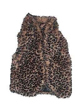 Cherokee Faux Fur Vest Size 6-7