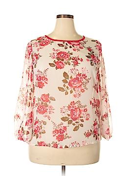 Moa U.S.A. Long Sleeve Blouse Size 1X (Plus)