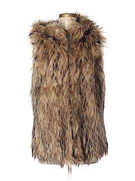 6 Shore Road Faux Fur Vest Size M
