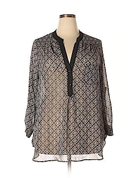 Pleione Long Sleeve Blouse Size 1X (Plus)