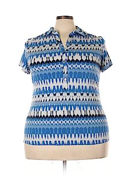 Alfani Short Sleeve Button-Down Shirt Size 2X (Plus)