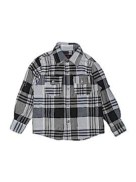 Swiss Cross Long Sleeve Button-Down Shirt Size 4T