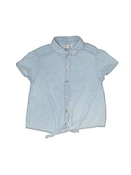 Zara Short Sleeve Button-Down Shirt Size 7