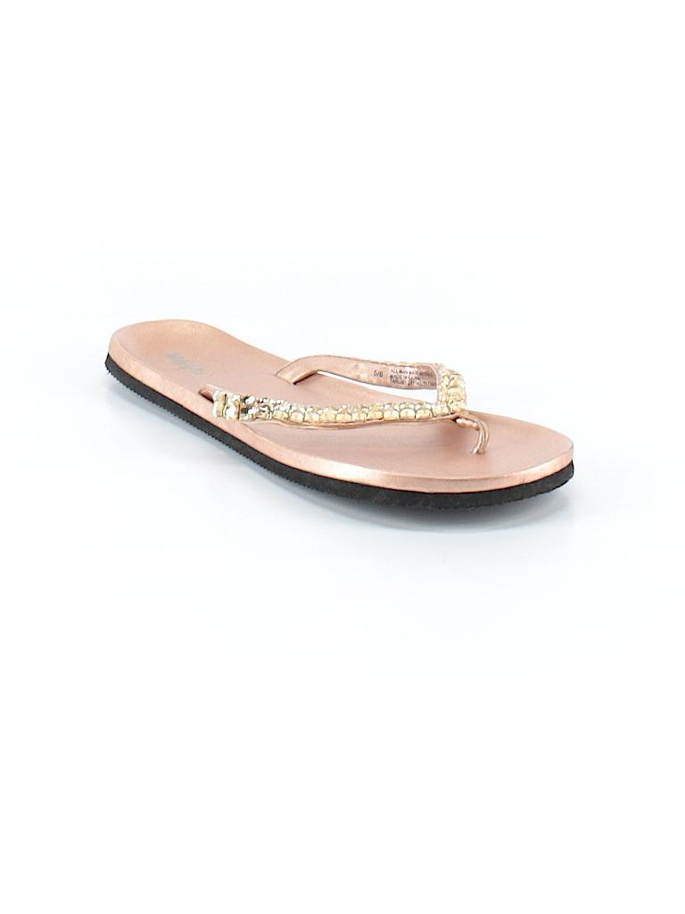 55e3629bd Mossimo Metallic Gold Flip Flops Size 5 - 6 - 50% off