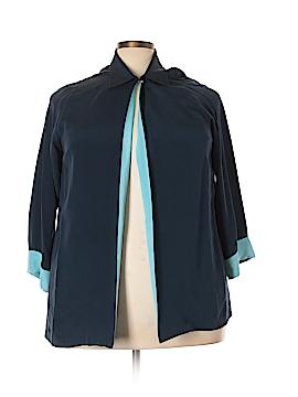 Saks Fifth Avenue 3/4 Sleeve Silk Top Size 2X (Plus)