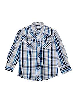 Gioberti Long Sleeve Button-Down Shirt Size 7