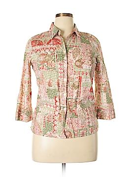 Charter Club 3/4 Sleeve Button-Down Shirt Size 12