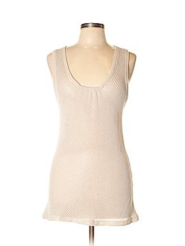 Velvet Sleeveless Silk Top Size L