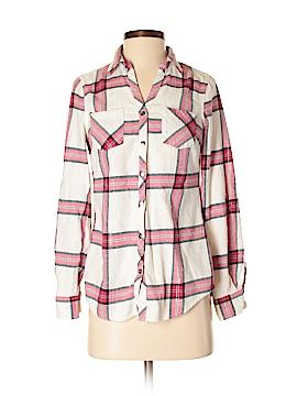 Falls Creek Long Sleeve Button-Down Shirt Size S