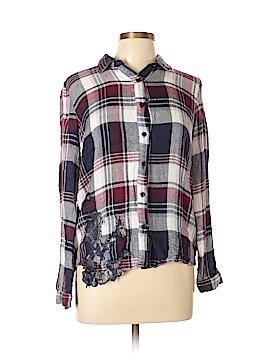 Mystree Long Sleeve Button-Down Shirt Size M