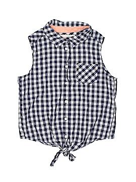 H&M L.O.G.G. Sleeveless Button-Down Shirt Size 12/13