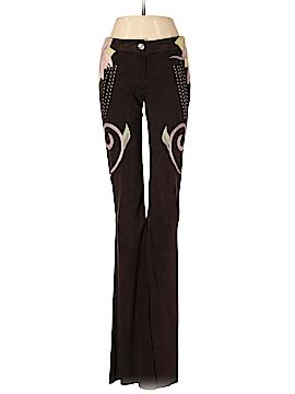 Roberto Cavalli Leather Pants Size 38 (IT)