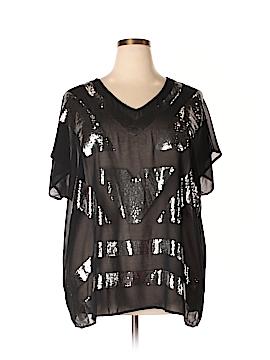 Design History Short Sleeve Blouse Size 3X (Plus)
