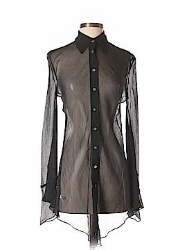 Express Long Sleeve Silk Top Size 1 - 2