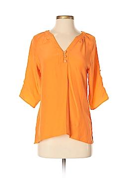 Britt Ryan 3/4 Sleeve Silk Top Size XS